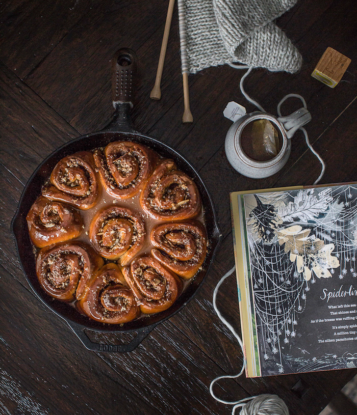 Cast Iron Skillet Sweet Rolls
